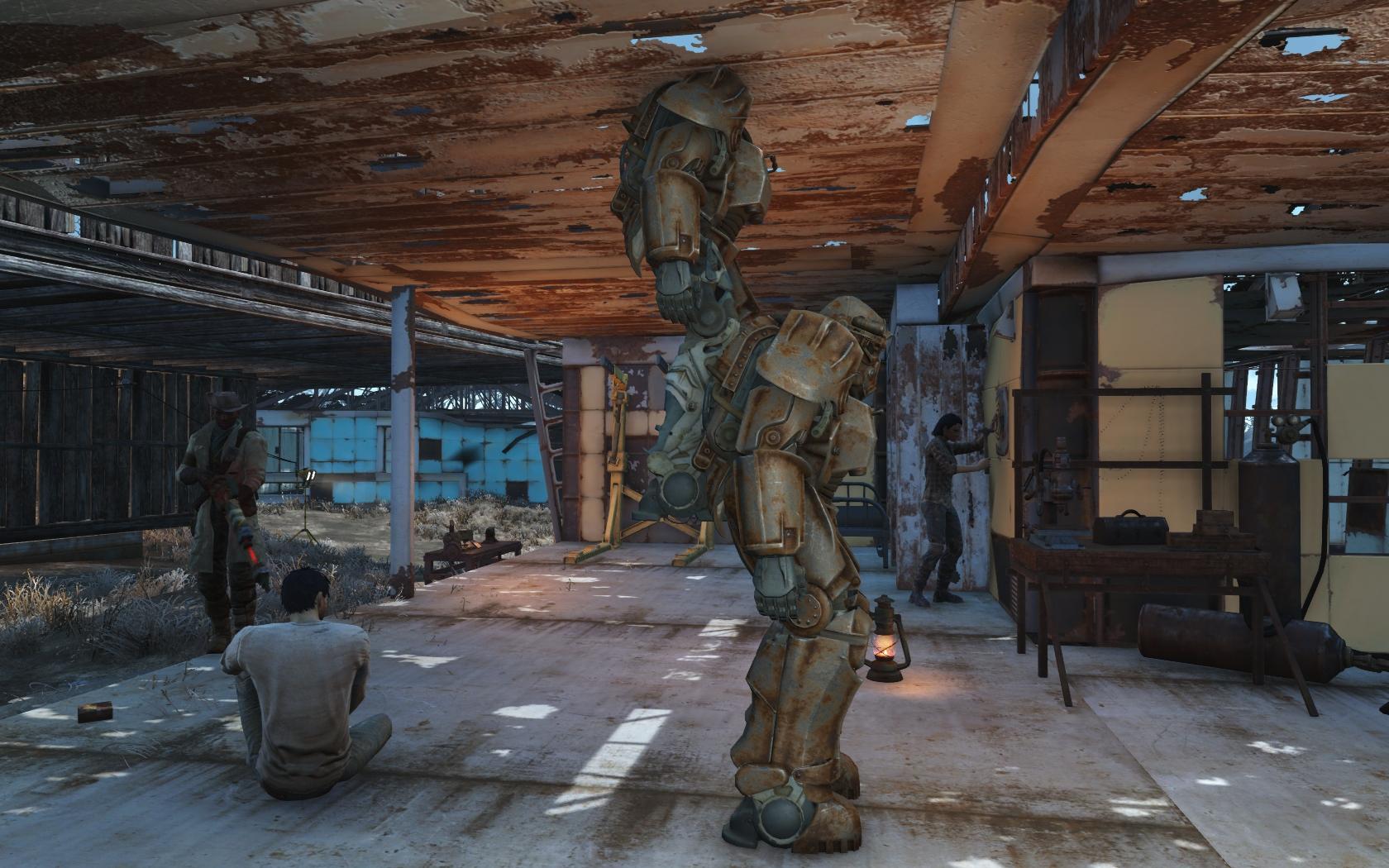 Когда дважды используется телепортация (Сэнкчуари) - Fallout 4 Баг, Силовая броня