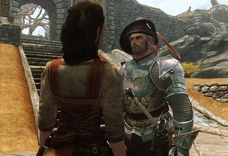 ...Отвел я.значит,Фрекен обратно в конюшню.Зашел в этот самый Вайтран.Ни чего так городишко,поменьше,конечно,Уллеаборга,но чистый,улицы камнем мощены и свиньи по ним не разгуливают.Поднялся я в горочку.Рыночек-народ всякой всячиной торгует. - Elder Scrolls 5: Skyrim, the Вассал Удачи