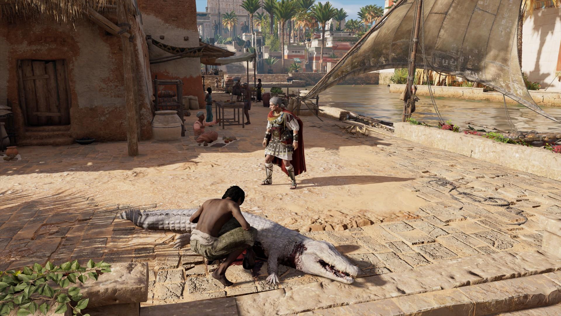 Цезарь на прогулке в Египте - Assassin's Creed: Origins