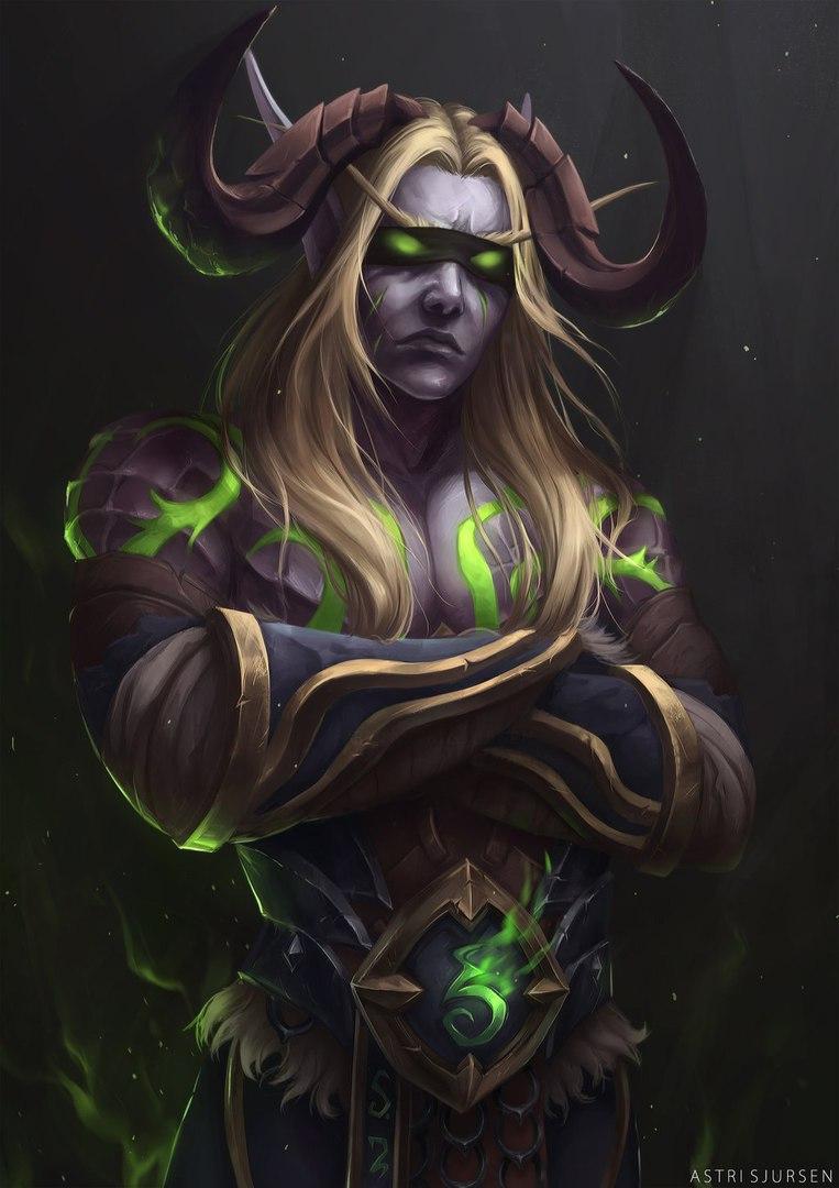 y8b4danf6E0.jpg - World of Warcraft Арт, Охотник на демонов