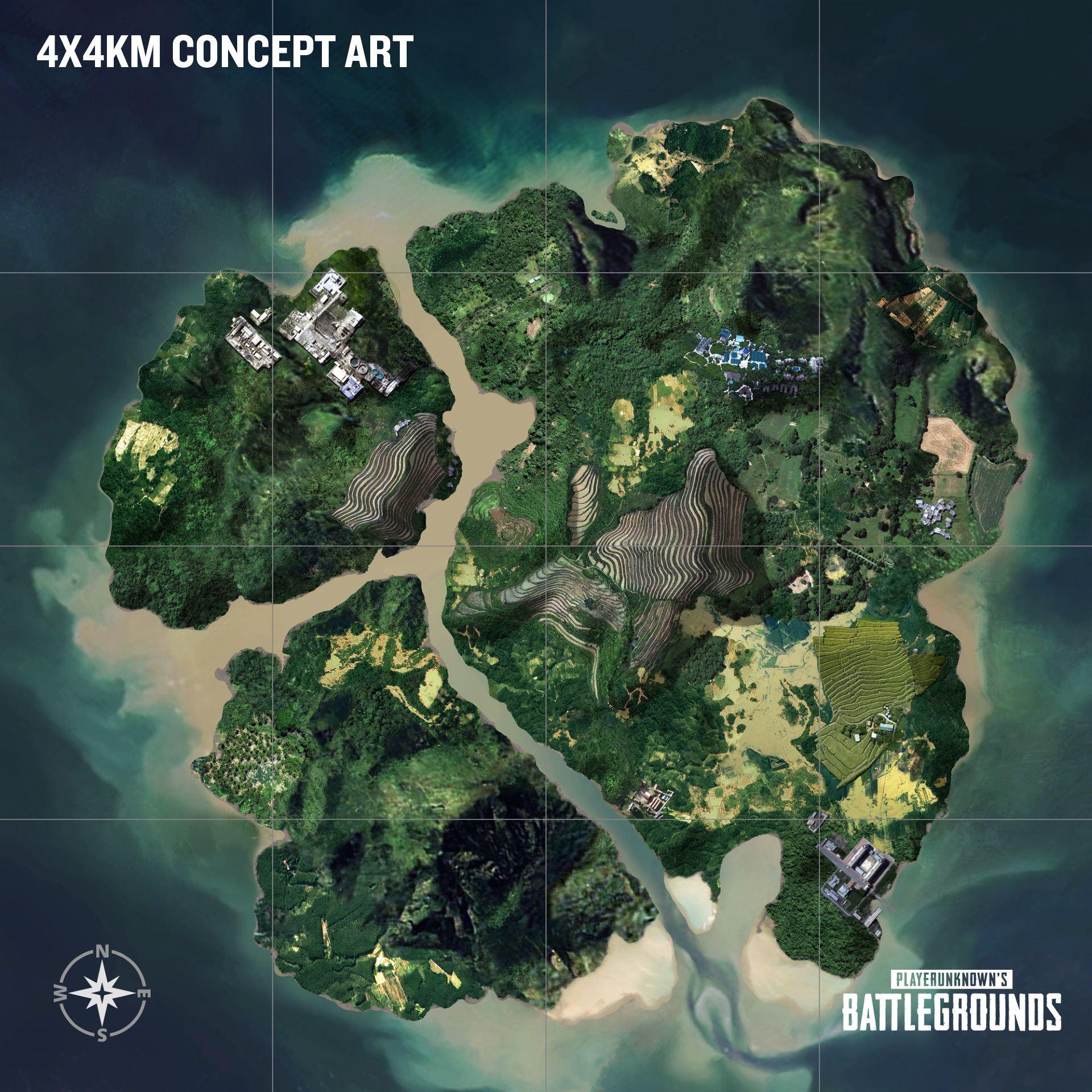 PlayerUnknown's Battlegrounds - концепт-арт третьей карты - PlayerUnknown's Battlegrounds Арт