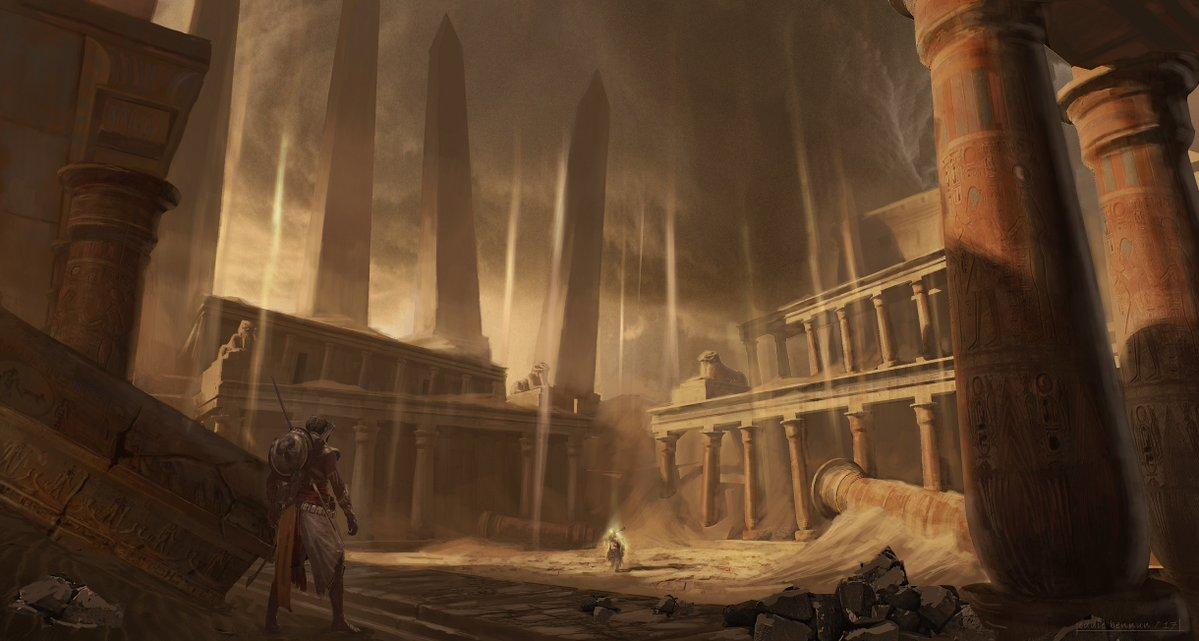 "Assassin's Creed: Origins - Концепт-арты ""Проклятие Фараонов"" - Assassin's Creed: Origins DLC, Арт"