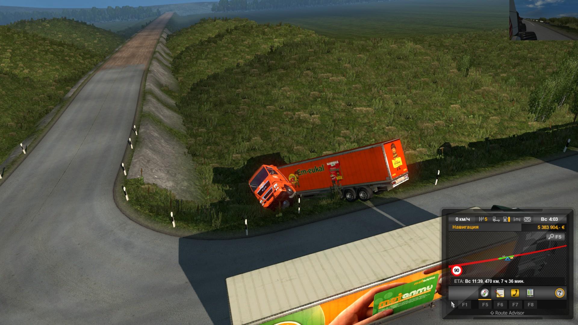 Euro Truck Simulator 2 суровая россия - Euro Truck Simulator 2
