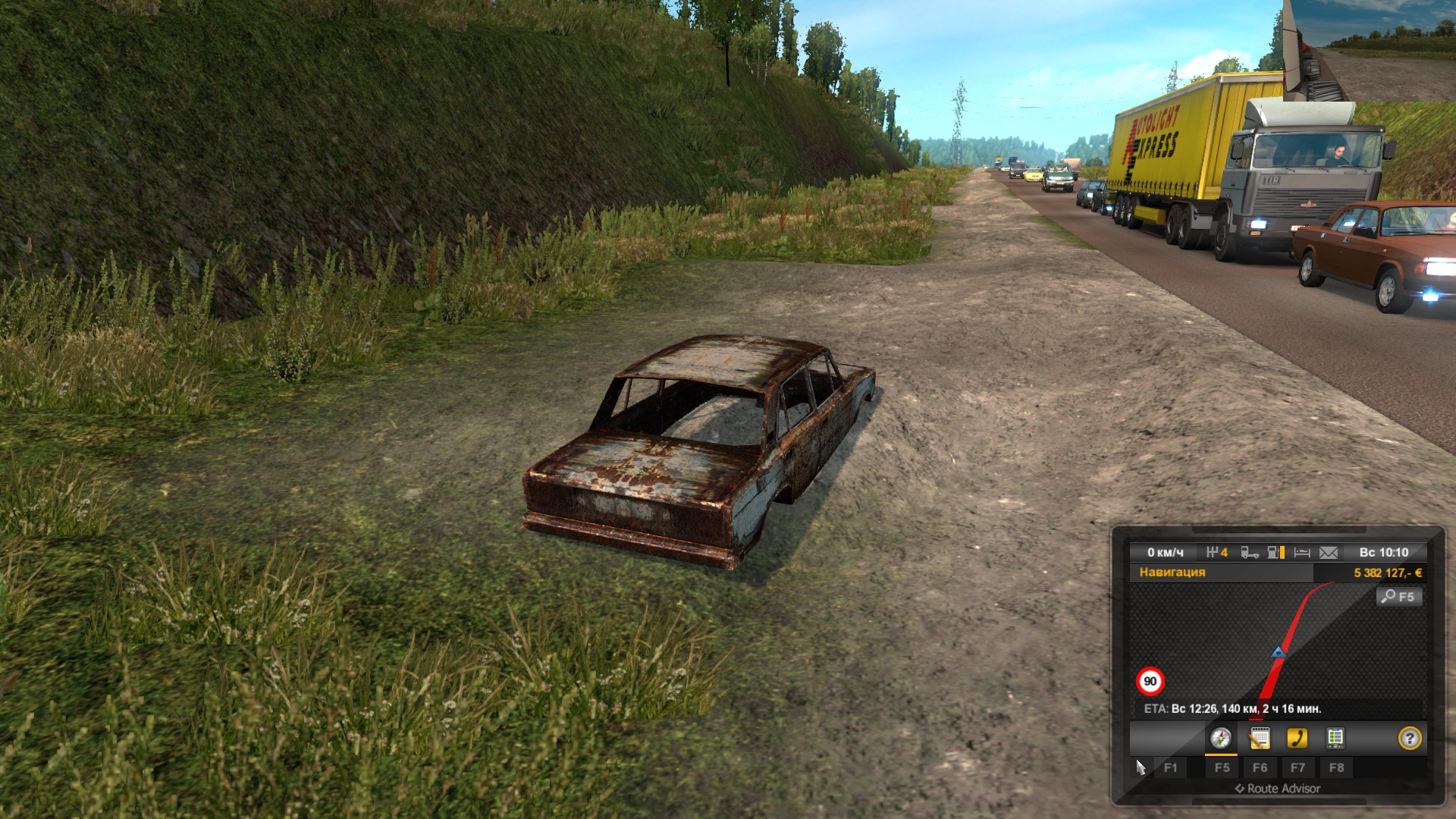 Euro Truck Simulator 2 суровая россия r 4 - Euro Truck Simulator 2