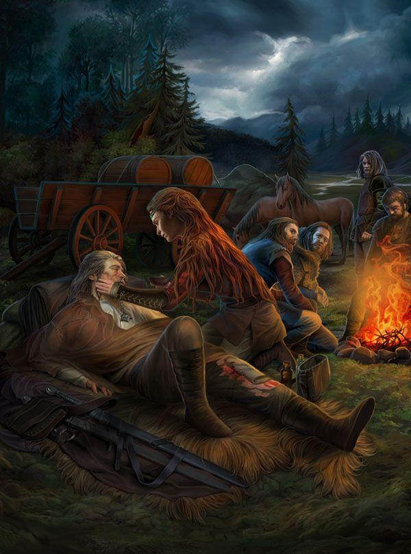 Геральт, Висенна, Йурга - Witcher 3: Wild Hunt, the