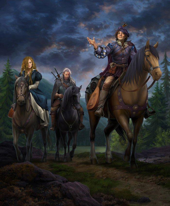 Геральт, Лютик, Мильва - Witcher 3: Wild Hunt, the