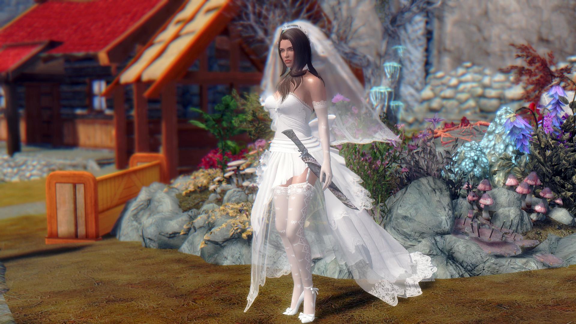 389. Лидия в свадебном платье.jpg - Elder Scrolls 5: Skyrim, the CBBE, Сборка-21