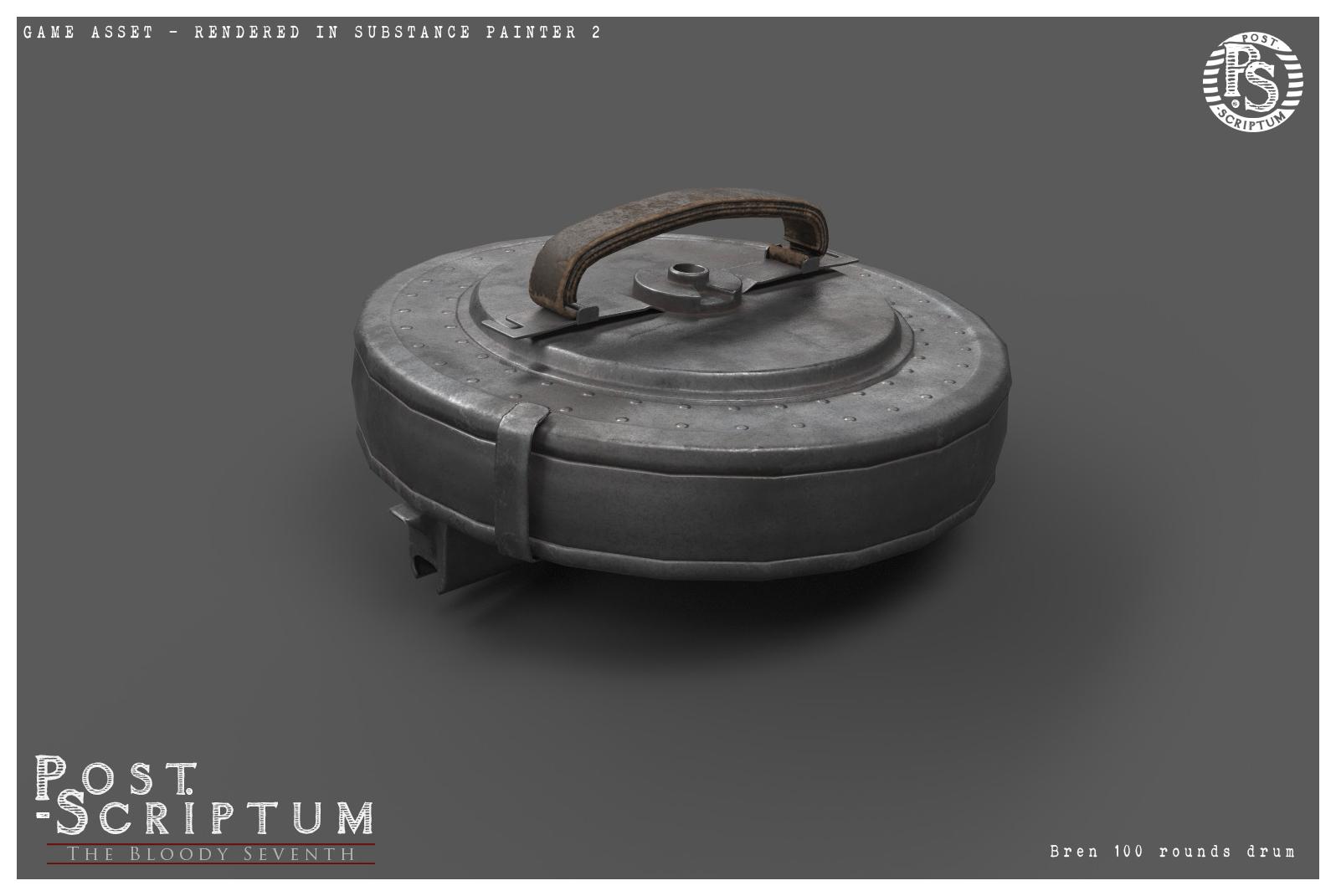 Магазин на 100 патронов к Bren - Post Scriptum Скриншот