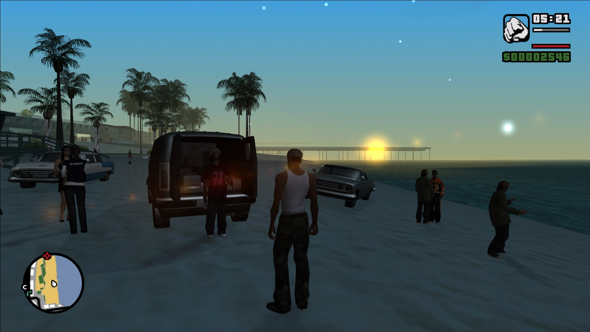 GTA San Andreas (mod - full screen and PS2 sun bloor) - Grand Theft Auto: San Andreas PS2, Моды