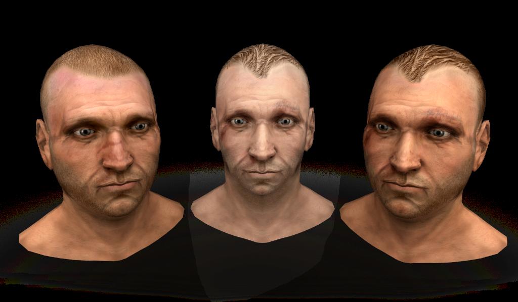 3D-модели лиц - Gates of Hell Рендер