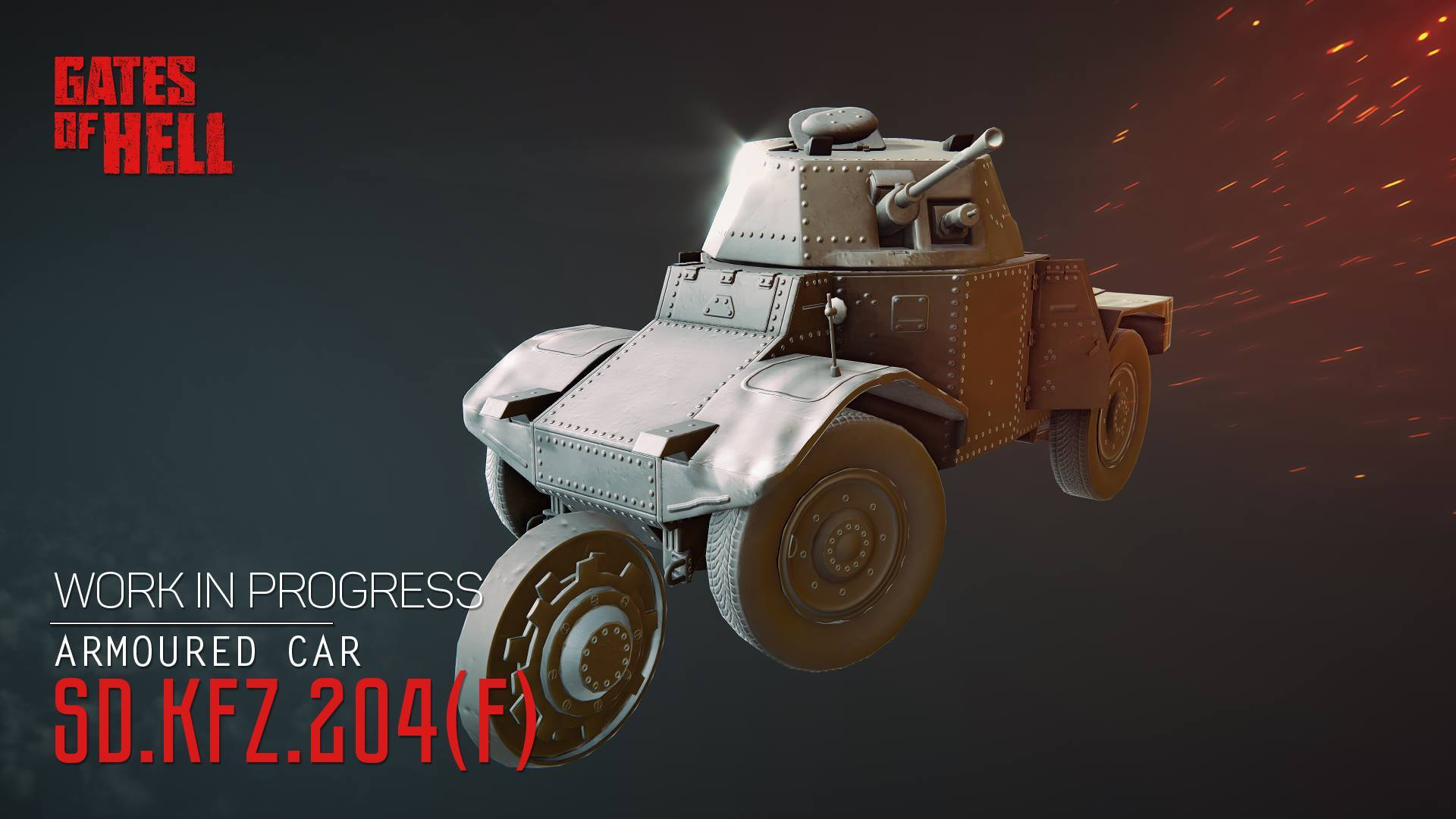 "БТР ""Panhard 178"" - Gates of Hell Рендер"