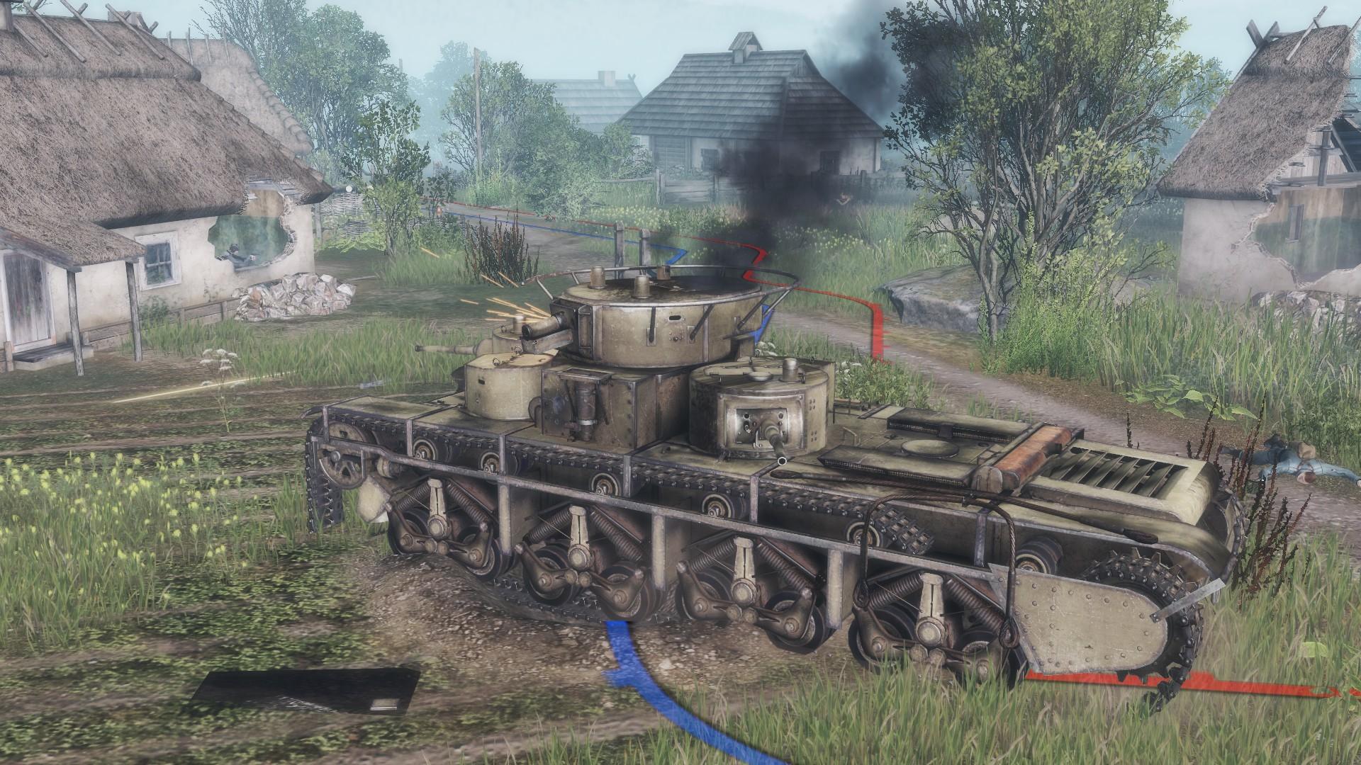 Подбитый Т-35 - Soldiers: Arena