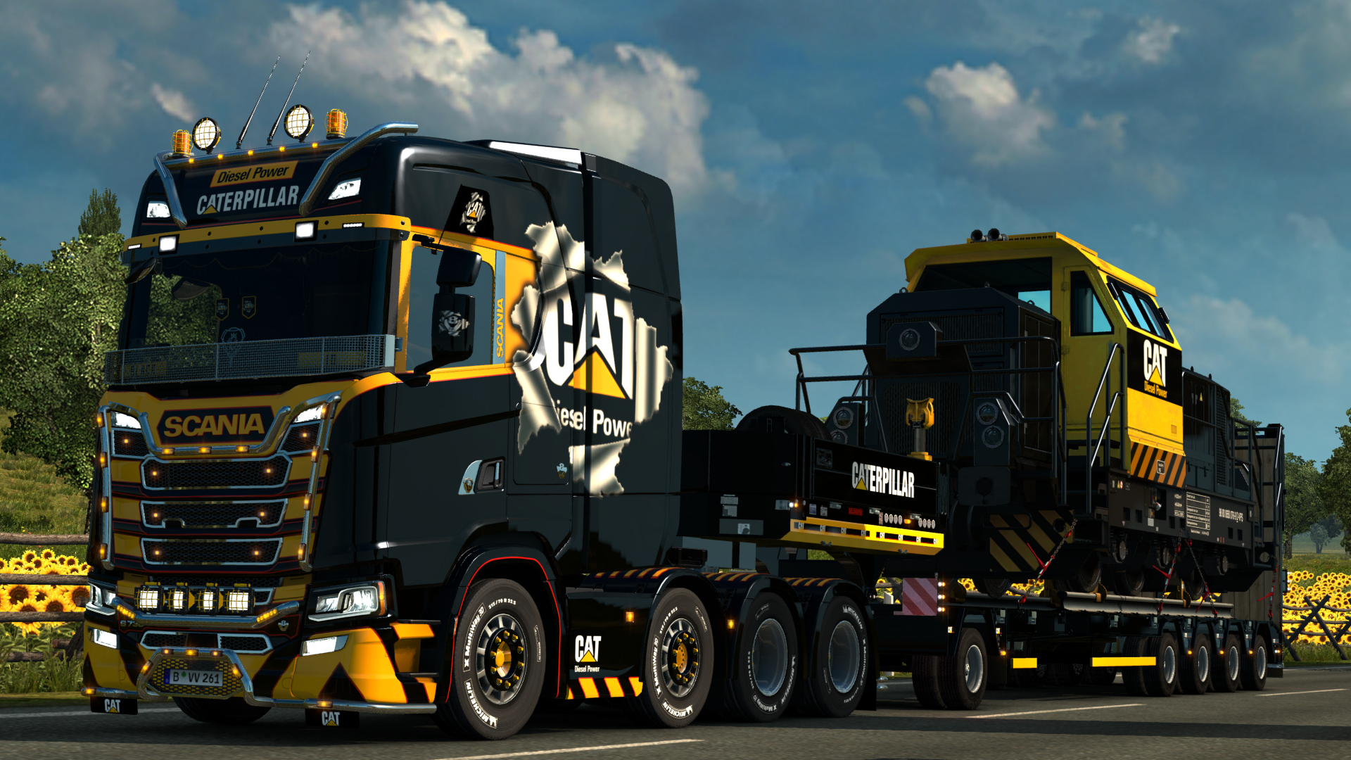 Scania 2016 V8 8x4 CAT - Euro Truck Simulator 2