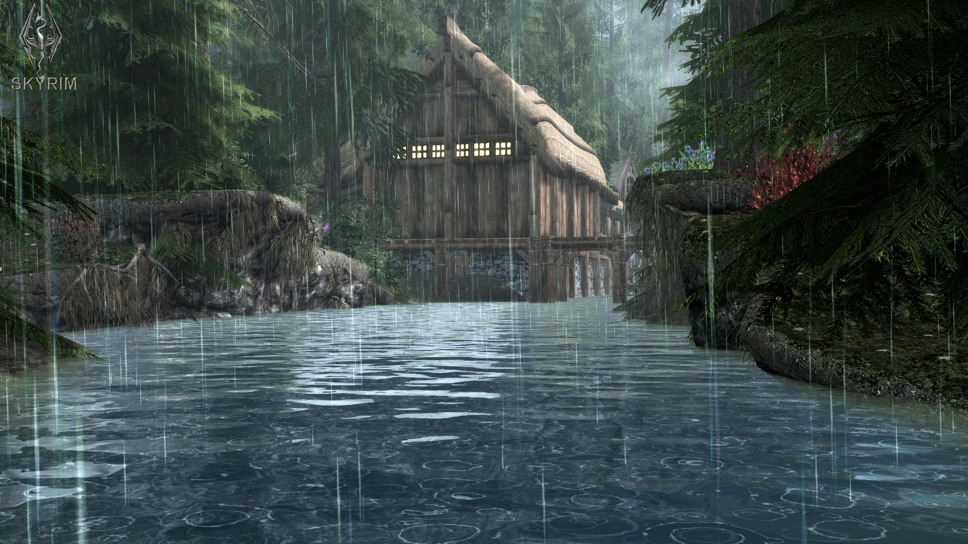 484. Ливень в Ривервуде.jpg - Elder Scrolls 5: Skyrim, the CBBE, Сборка-21