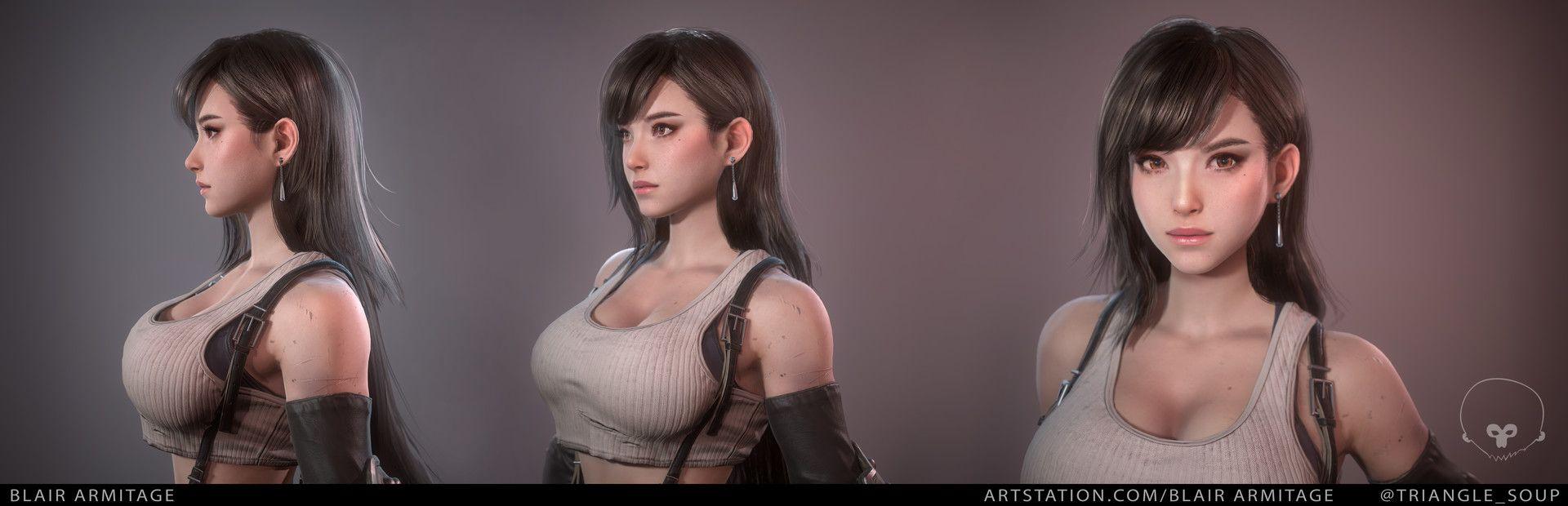 Тифа Локхарт - Final Fantasy 7 персонаж, рендер