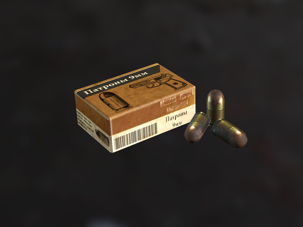 Коробка патронов 9мм - Next Day: Survival Предмет, Рендер