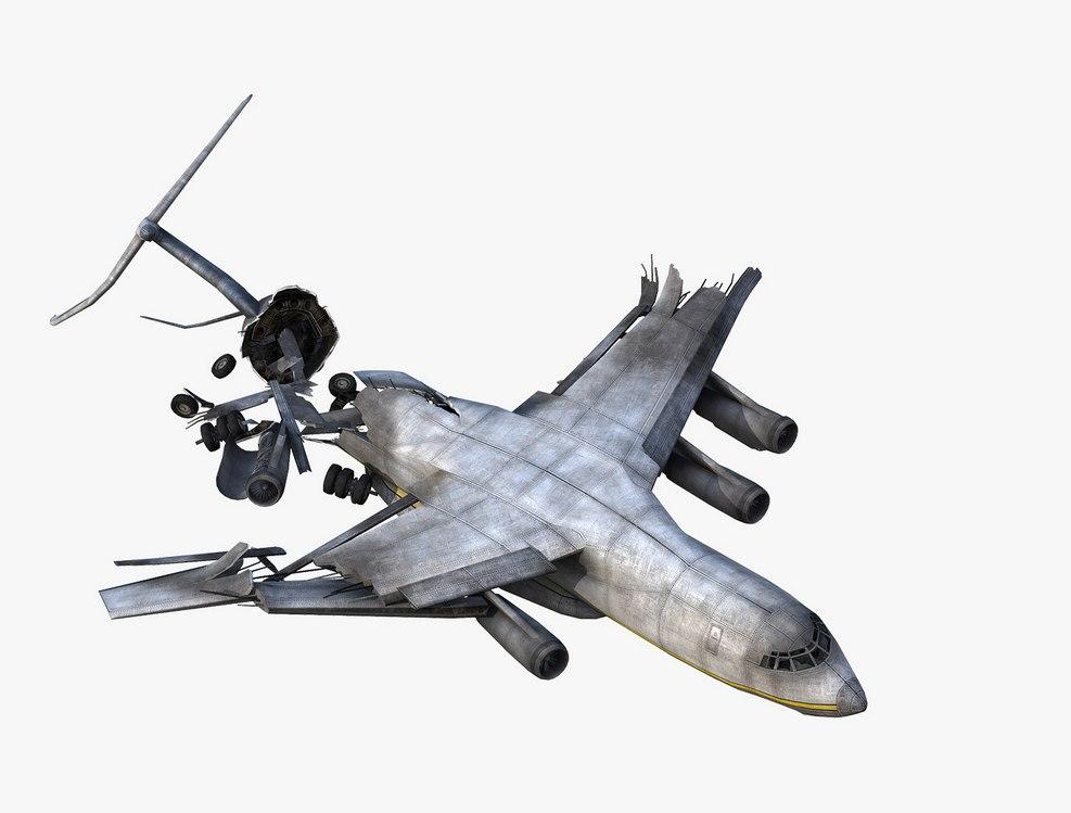 Разбитый самолёт - Next Day: Survival Рендер, Транспорт