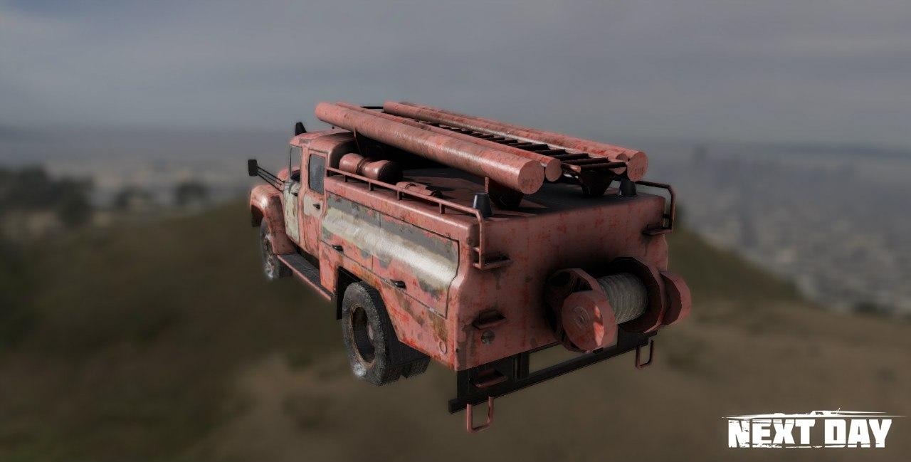 ЗИЛ 130 Пожарный - Next Day: Survival Рендер, Транспорт