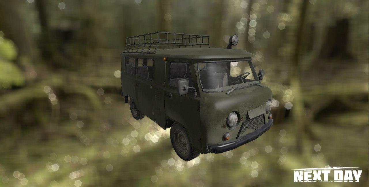 УАЗ 452 военный - Next Day: Survival Рендер, Транспорт