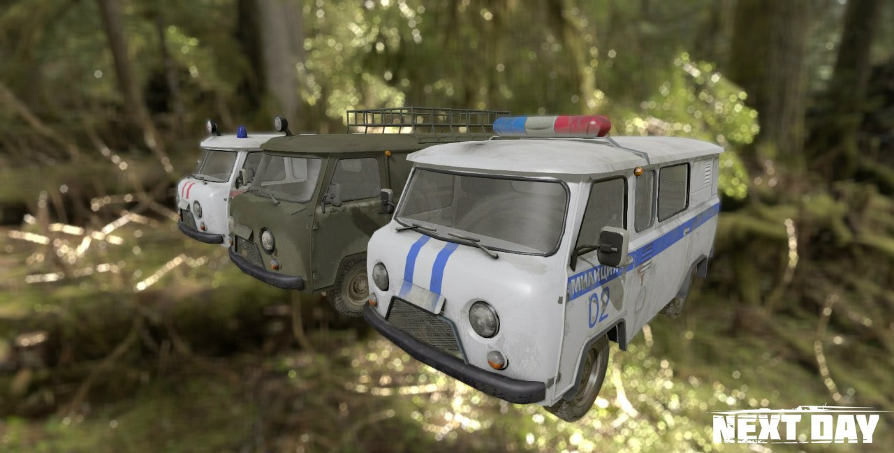 УАЗ 452 - Next Day: Survival Рендер, Транспорт