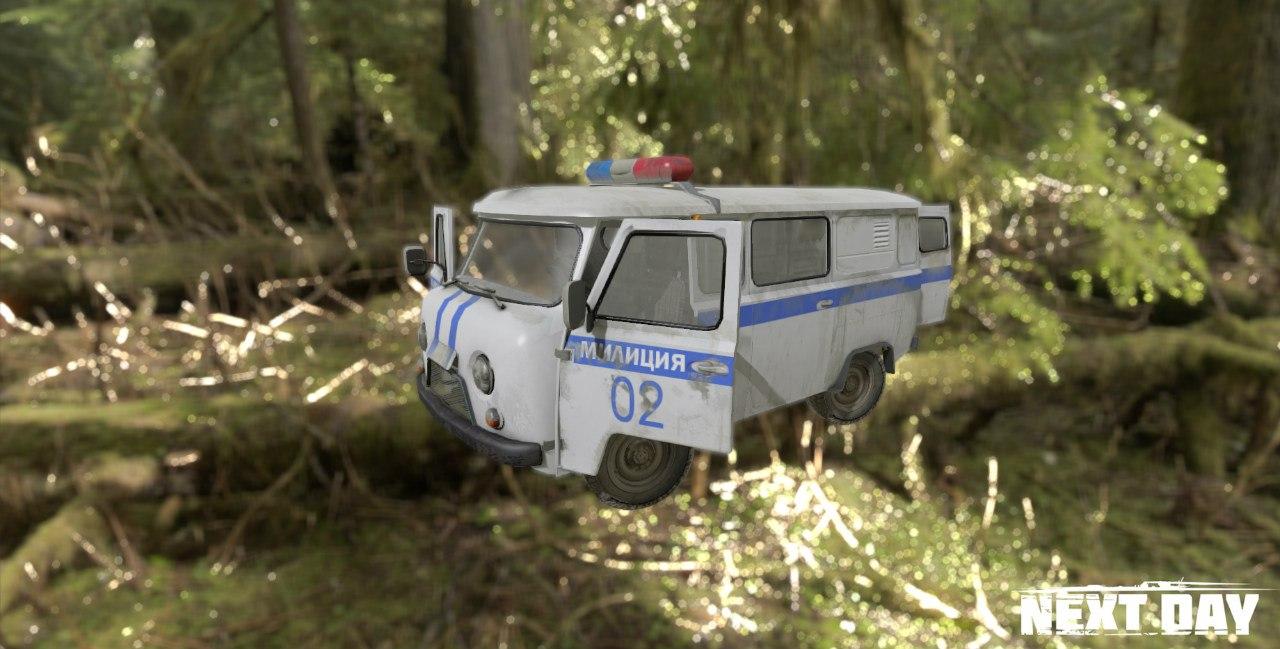 УАЗ 452 милицейский - Next Day: Survival Рендер, Транспорт