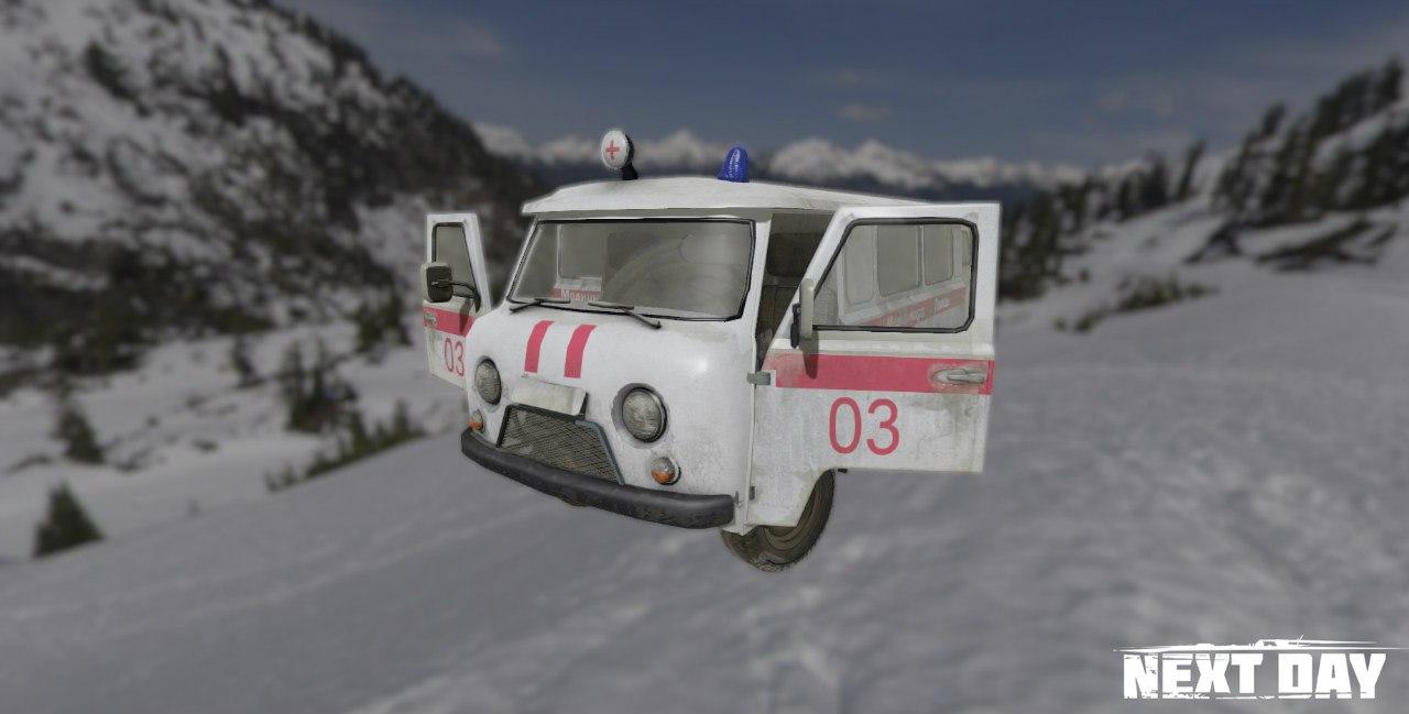 УАЗ 452 медицинский - Next Day: Survival Рендер, Транспорт