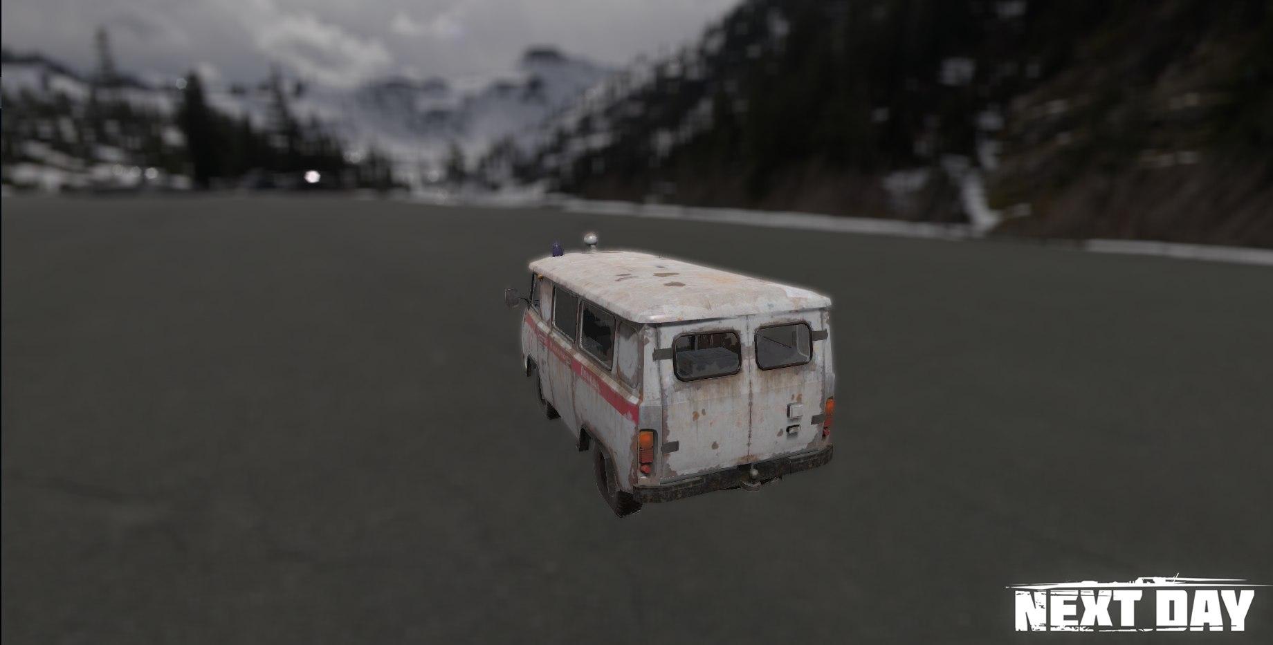 УАЗ 452 скорая помощь - Next Day: Survival Рендер, Транспорт