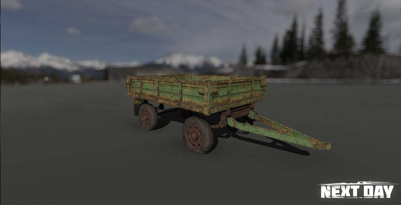 Телега - Next Day: Survival Рендер, Транспорт