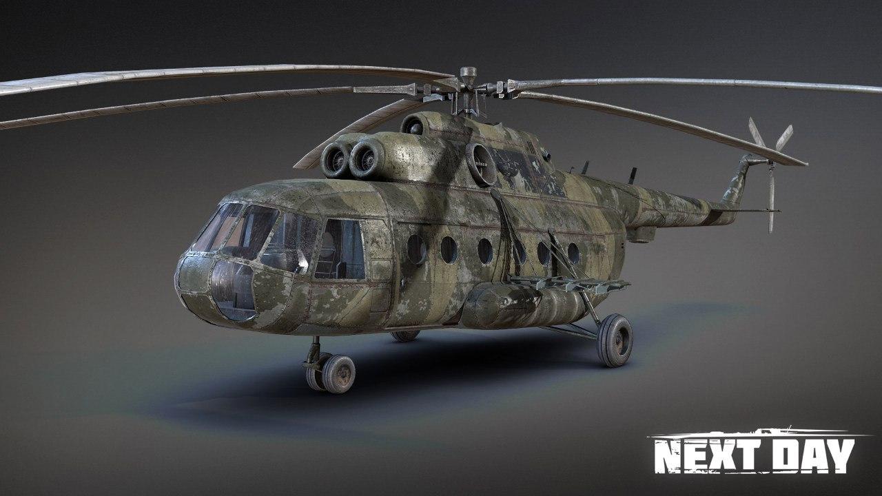 Вертолёт - Next Day: Survival Рендер, Транспорт