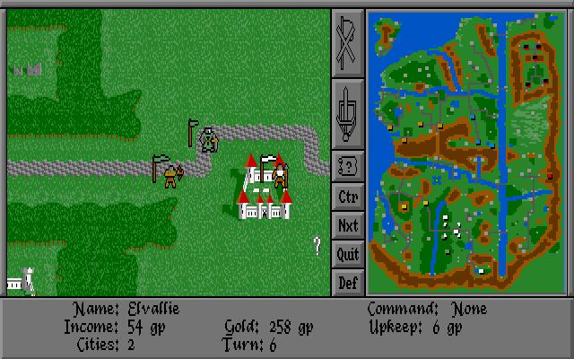 DOS-версия - Warlords (1989)