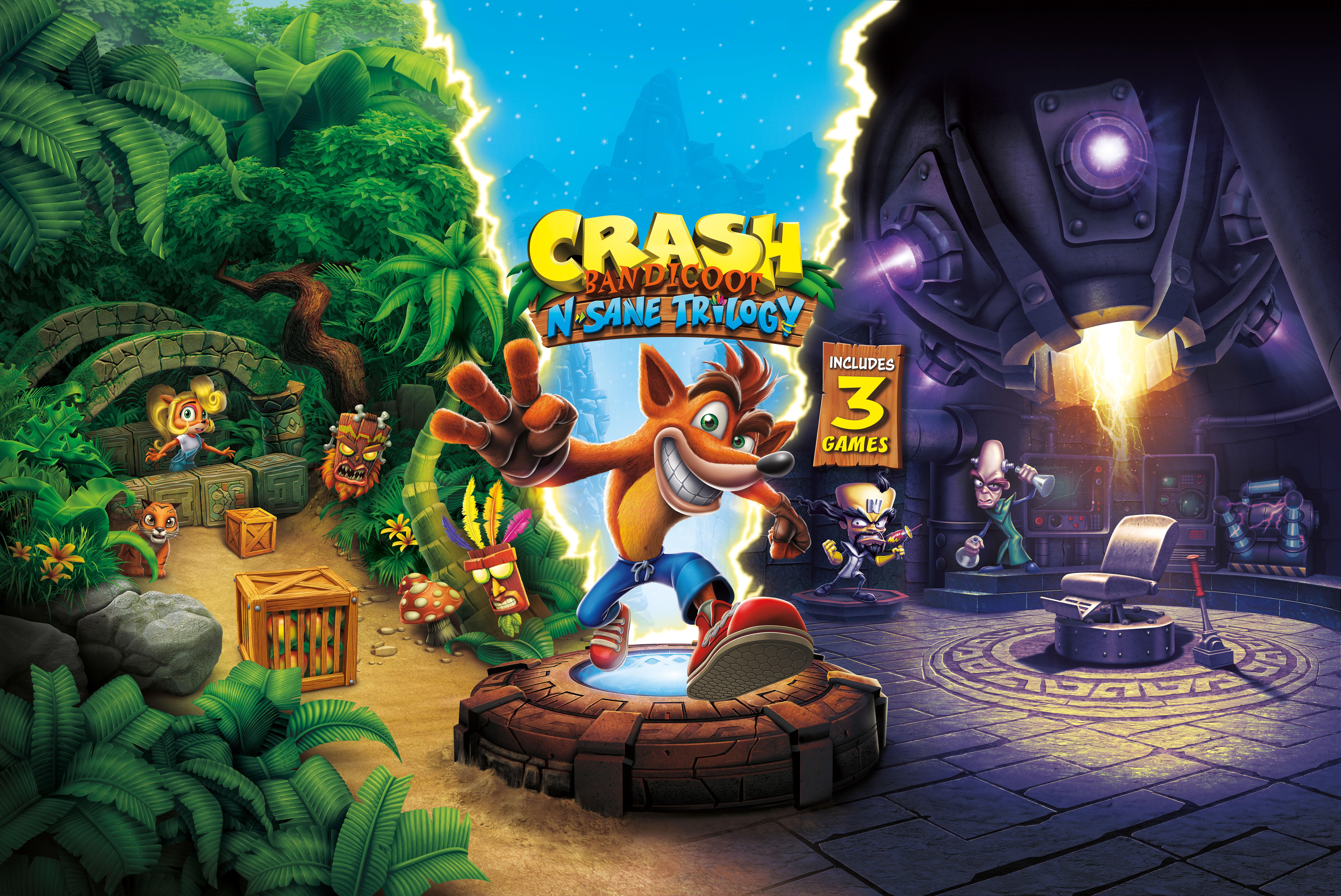 Crash Bandicoot N. Sane Trilogy - Crash Bandicoot N. Sane Trilogy 9K, Арт