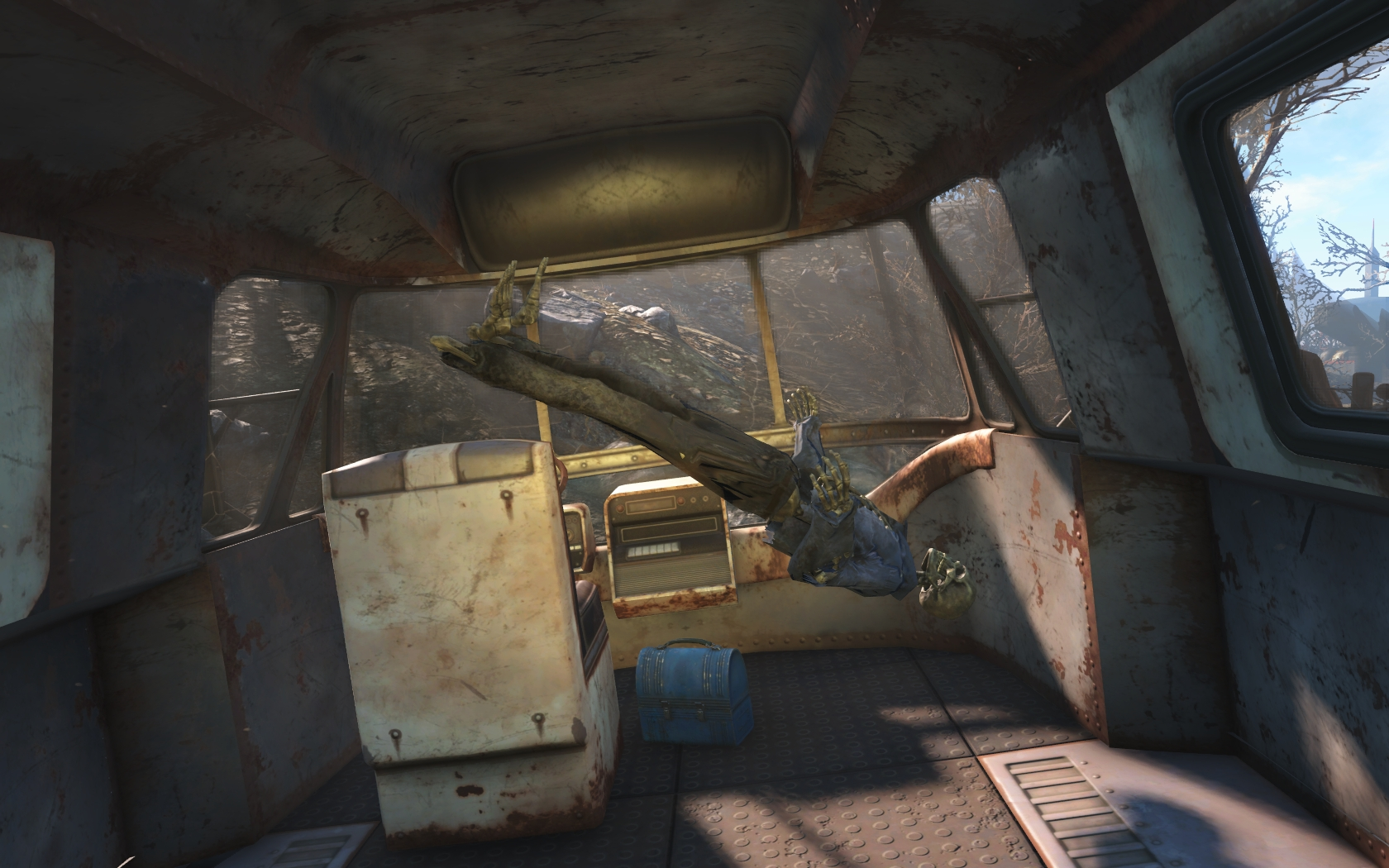 Баг со скелетом (северо-западнее Теплицы Гринтоп)#2 - Fallout 4
