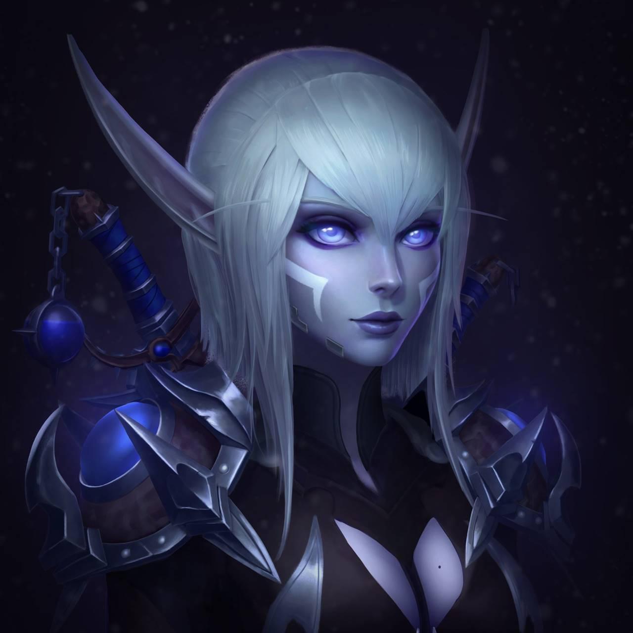 Эльфийка разбойница из World of Warcraft - World of Warcraft Арт