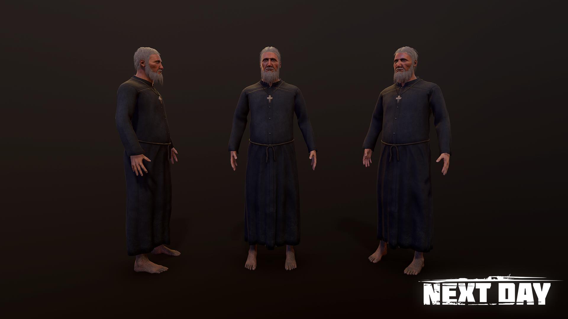 Священник - Next Day: Survival Персонаж, Рендер