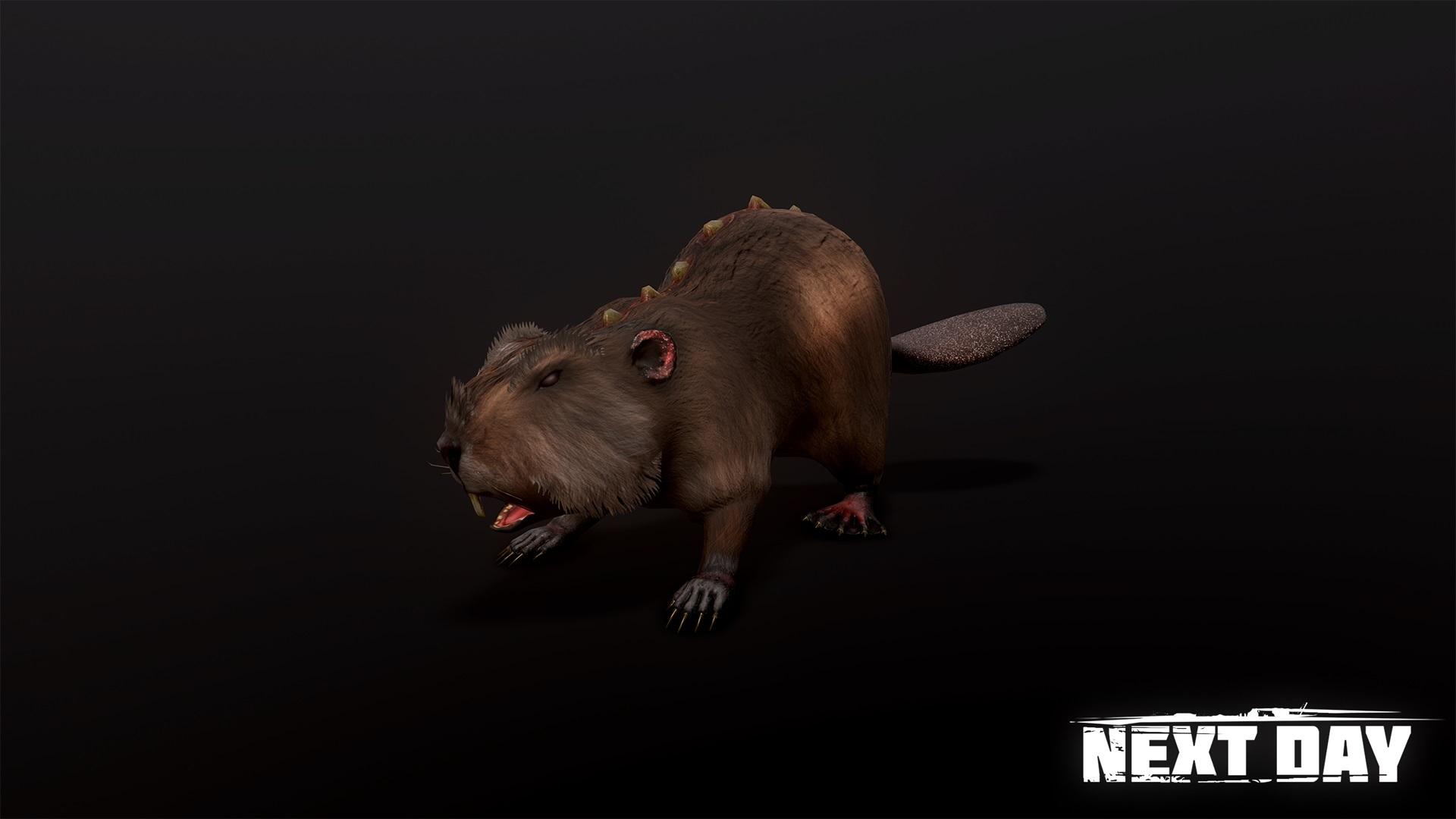 Гребнистый бобёр - Next Day: Survival Животное, Рендер