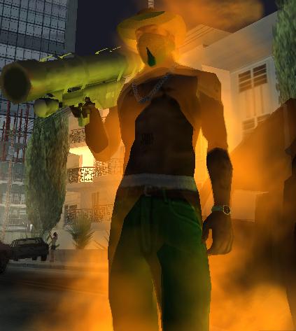 Горящий Сиджей - Grand Theft Auto: San Andreas