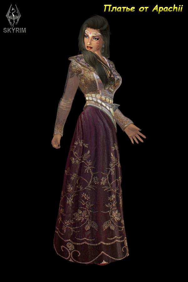556. Платье от Apachii.jpg - Elder Scrolls 5: Skyrim, the CBBE, Сборка-21