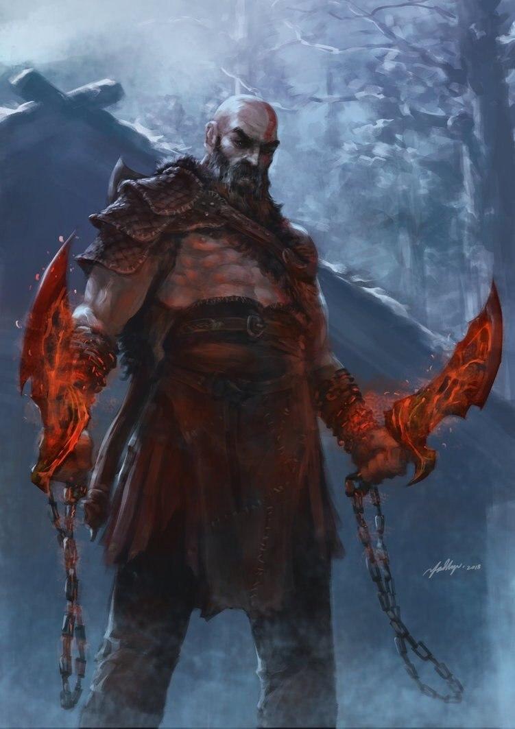 UolKXXvqXzQ.jpg - God of War (2018) Арт, Кратос