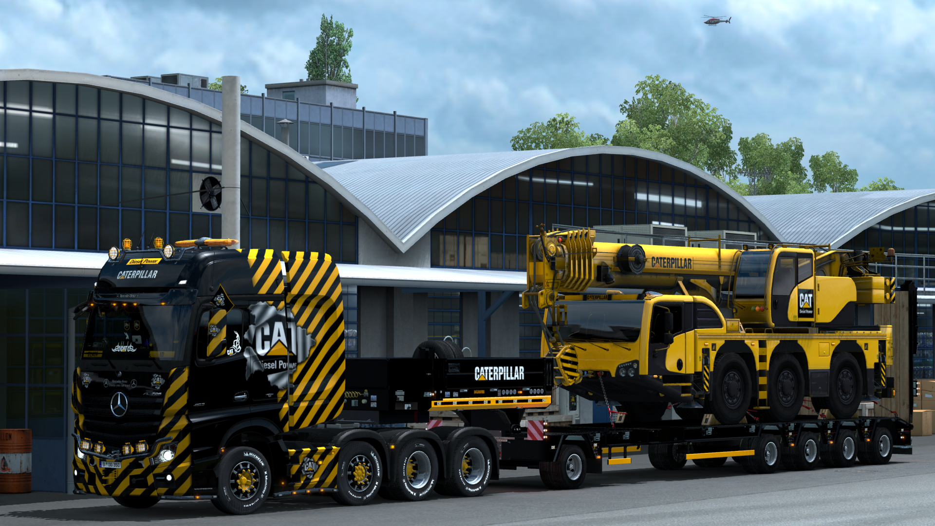 Mercedes Actros MP4 8x4 CAT Crane - Euro Truck Simulator 2