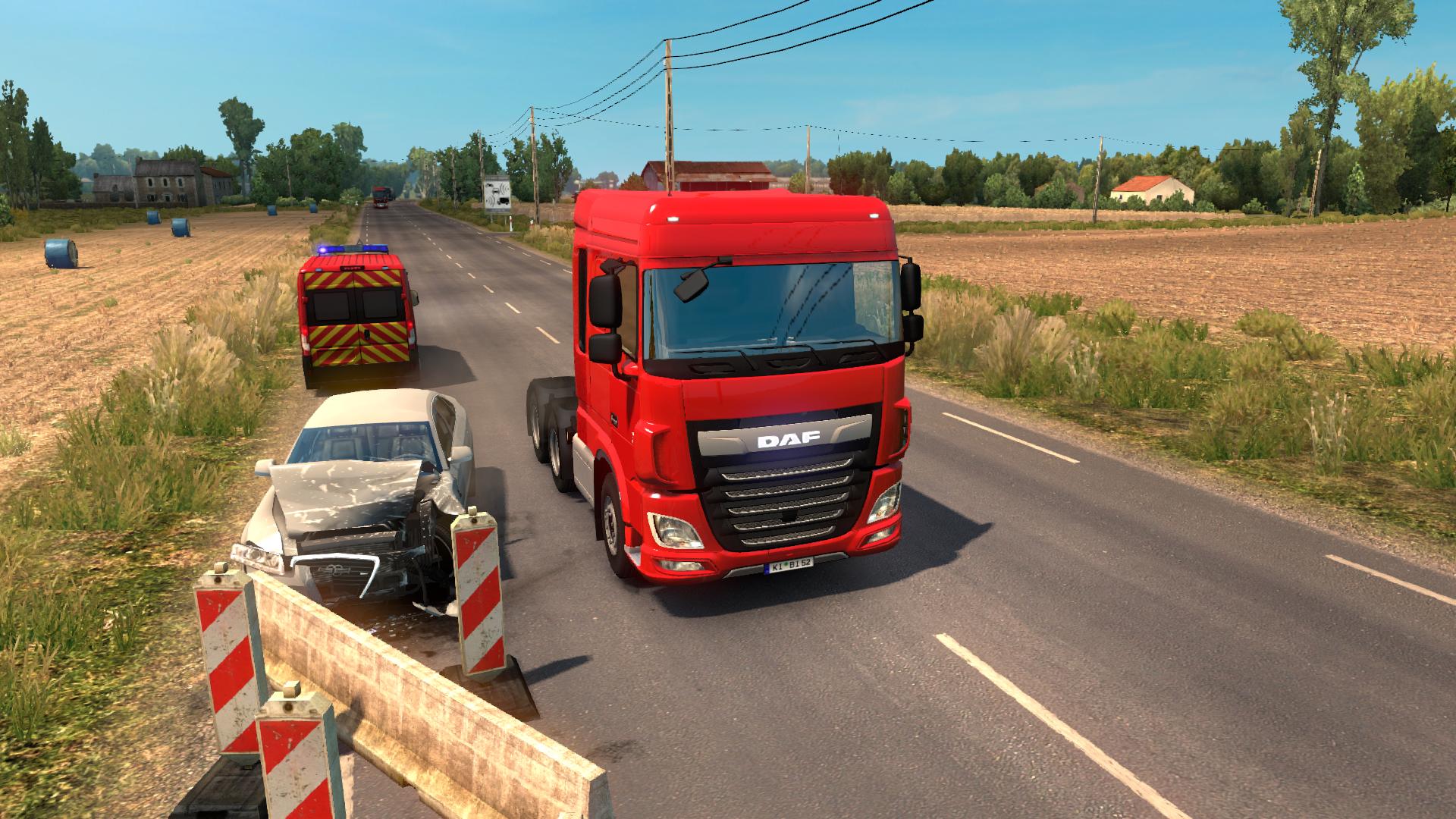 Небольшая авария - Euro Truck Simulator 2