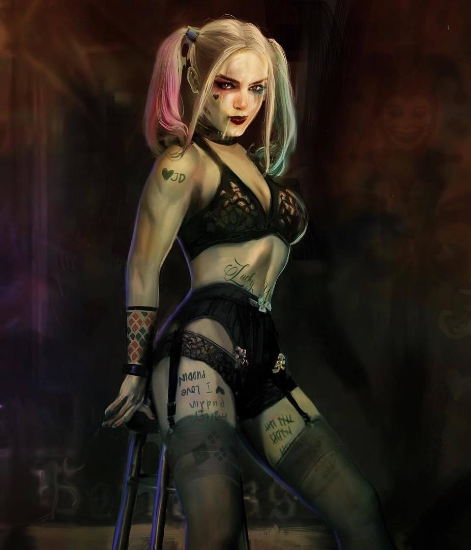 Харли Куинн - Batman: Arkham Knight арт, персонаж