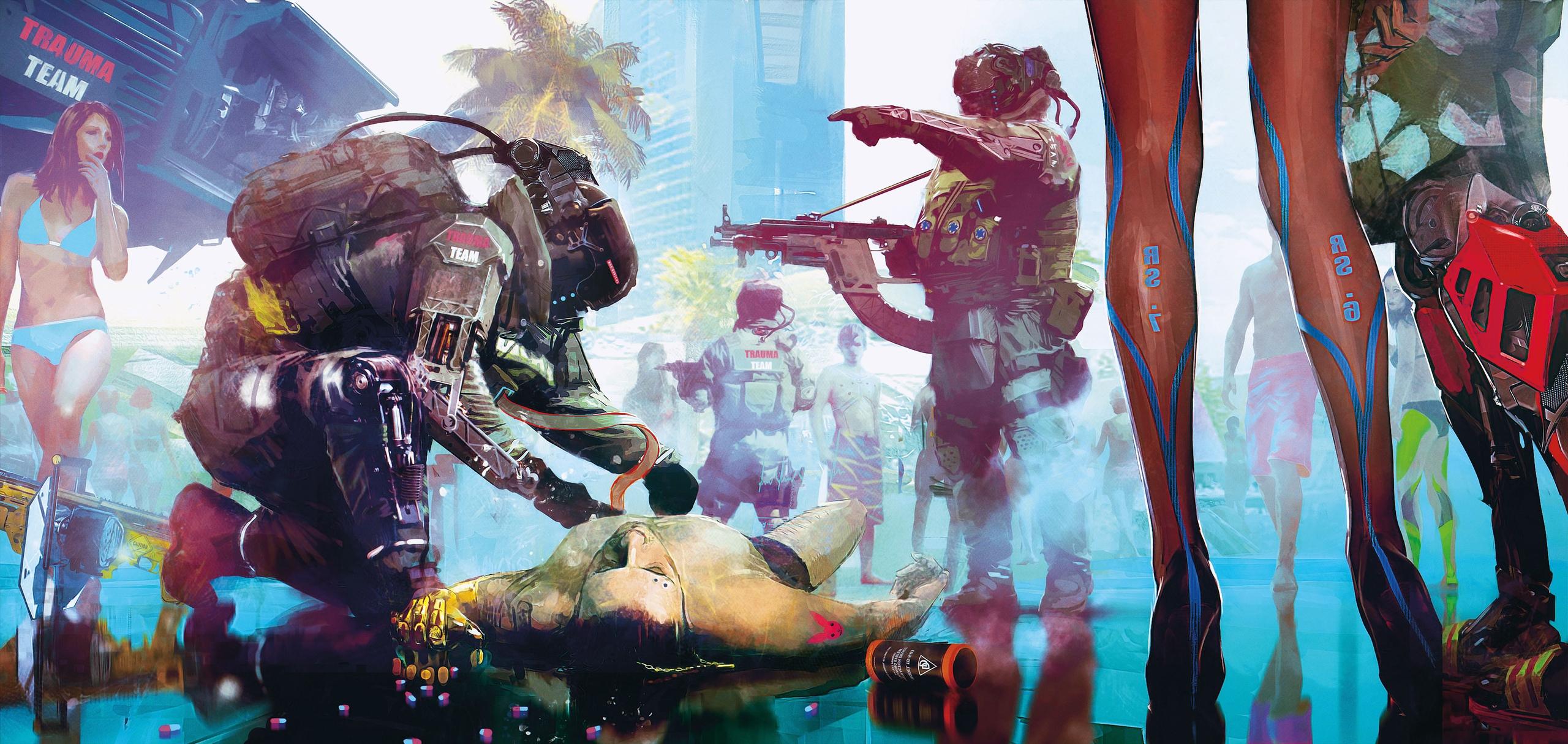 Концепт-арт Cyberpunk 2077 - Cyberpunk 2077 Арт