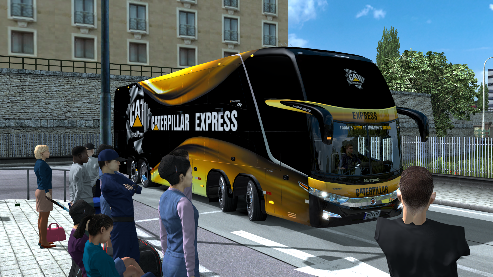 Marcopolo G7 DD 1800 CAT - Euro Truck Simulator 2