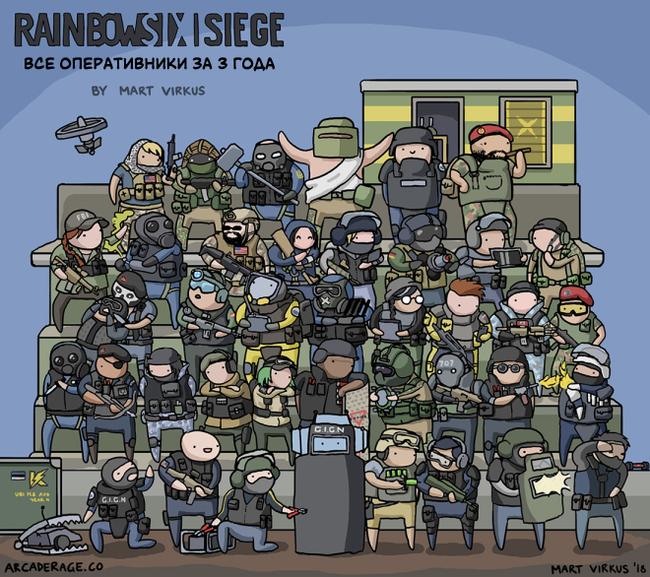 Все оперативники Rainbow Six: Siege на одной картинке - -