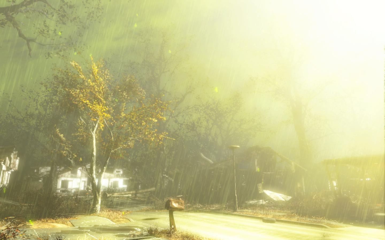 Дождик - Fallout 4 моды