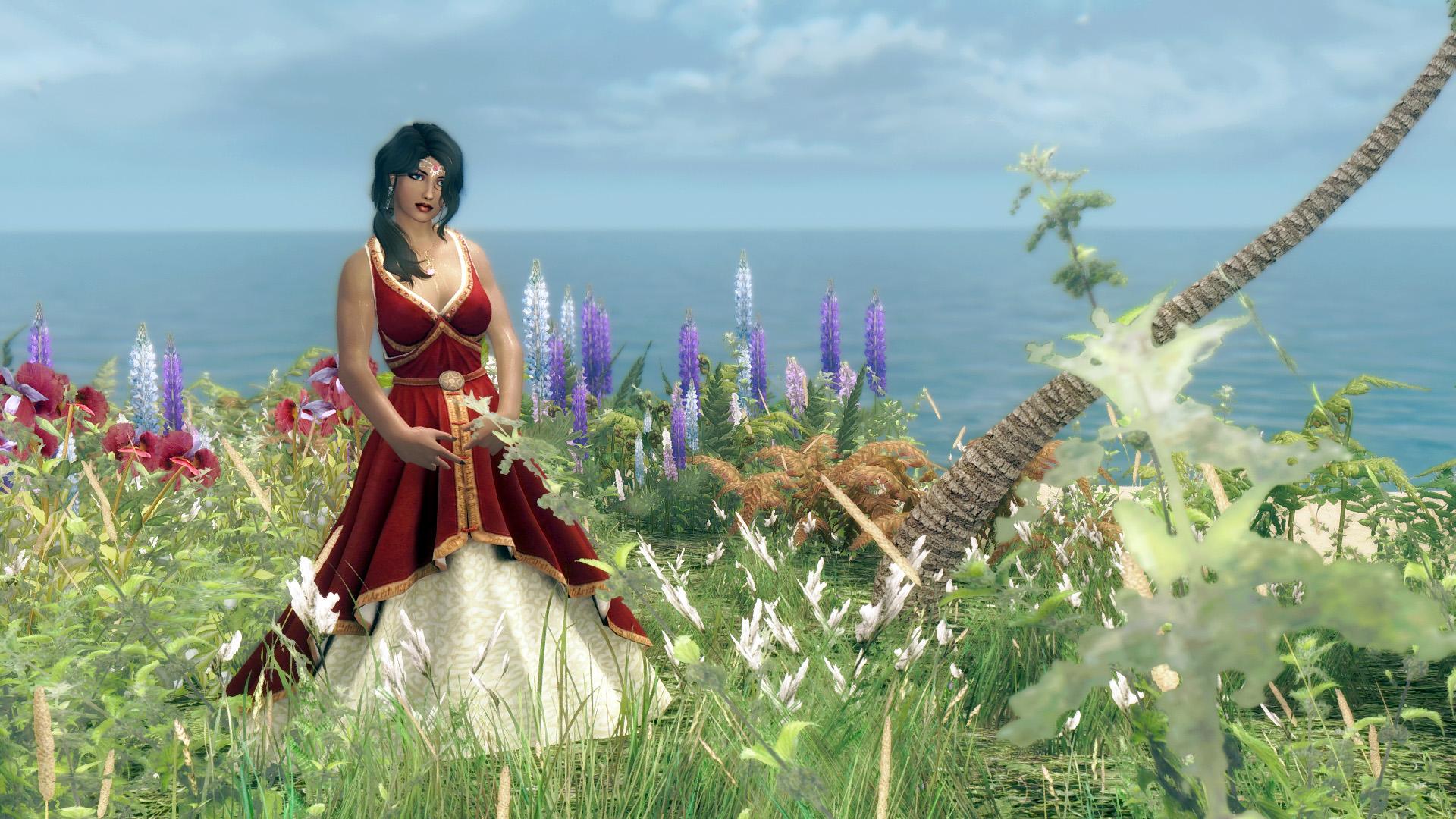 625. Платье красное, Island.jpg - Elder Scrolls 5: Skyrim, the CBBE, Сборка-21