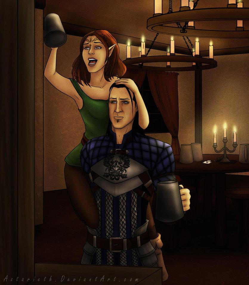 dragon_age_nathaniel_and_lyna_by_aztarieth-d4usl5p.jpg - Dragon Age: Origins