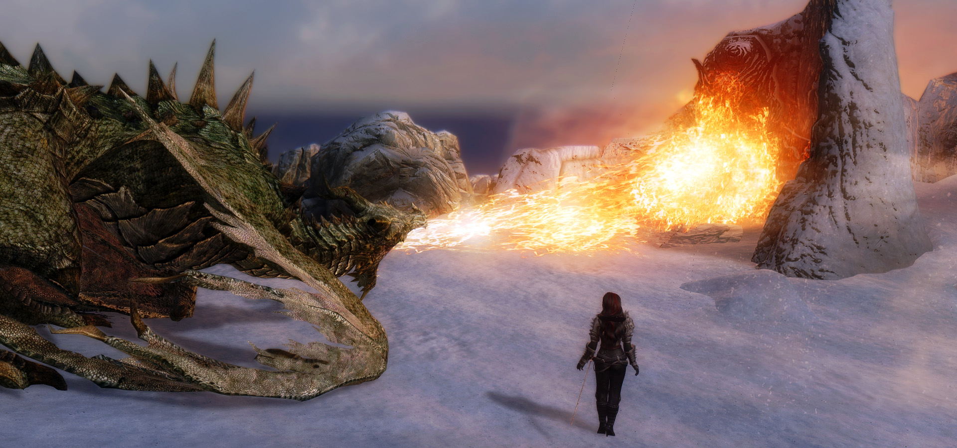 632. Огненное приветствие.jpg - Elder Scrolls 5: Skyrim, the CBBE, Сборка-21