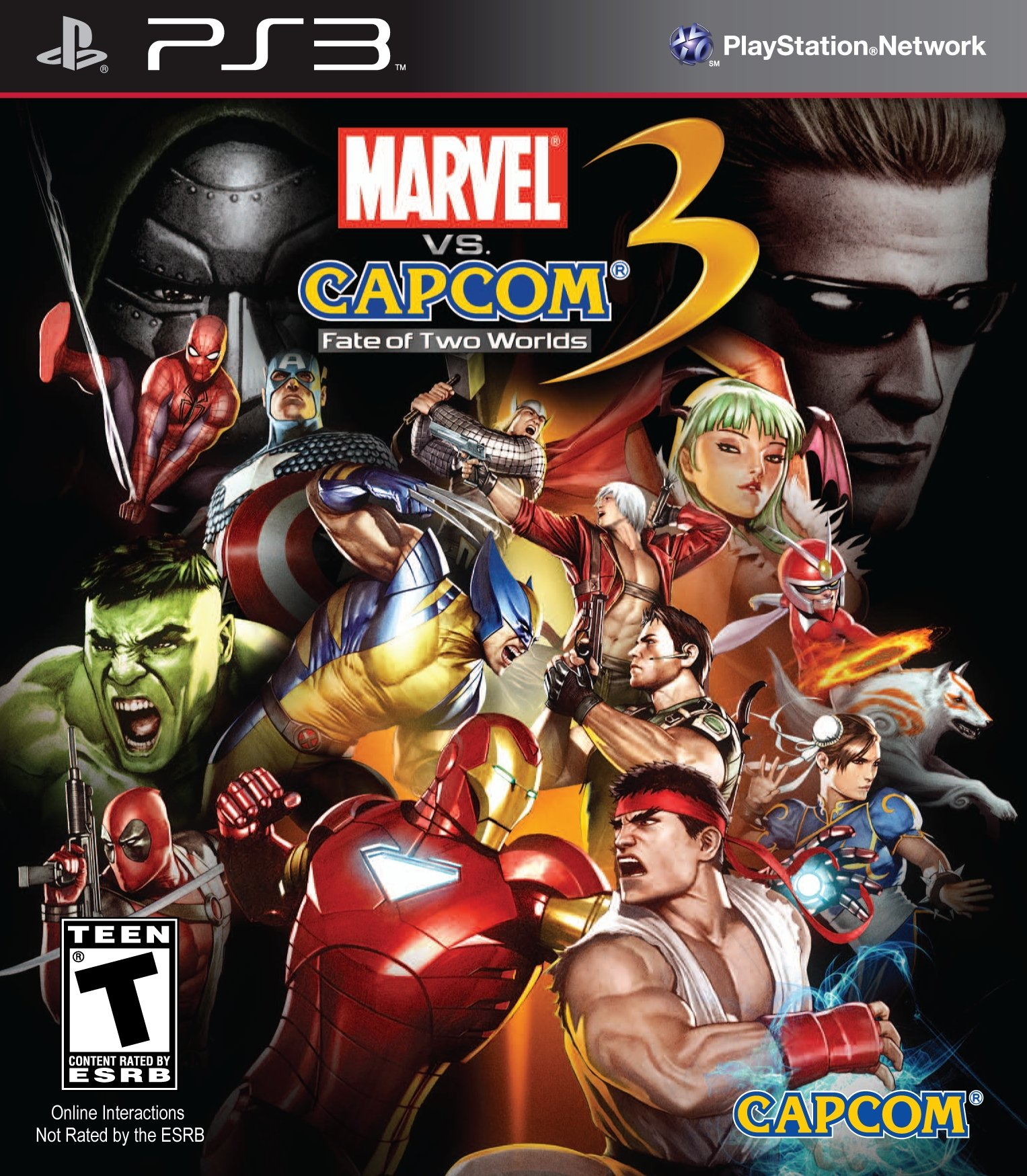 Бокс-арт (PS3) - Marvel vs. Capcom 3: Fate of Two Worlds