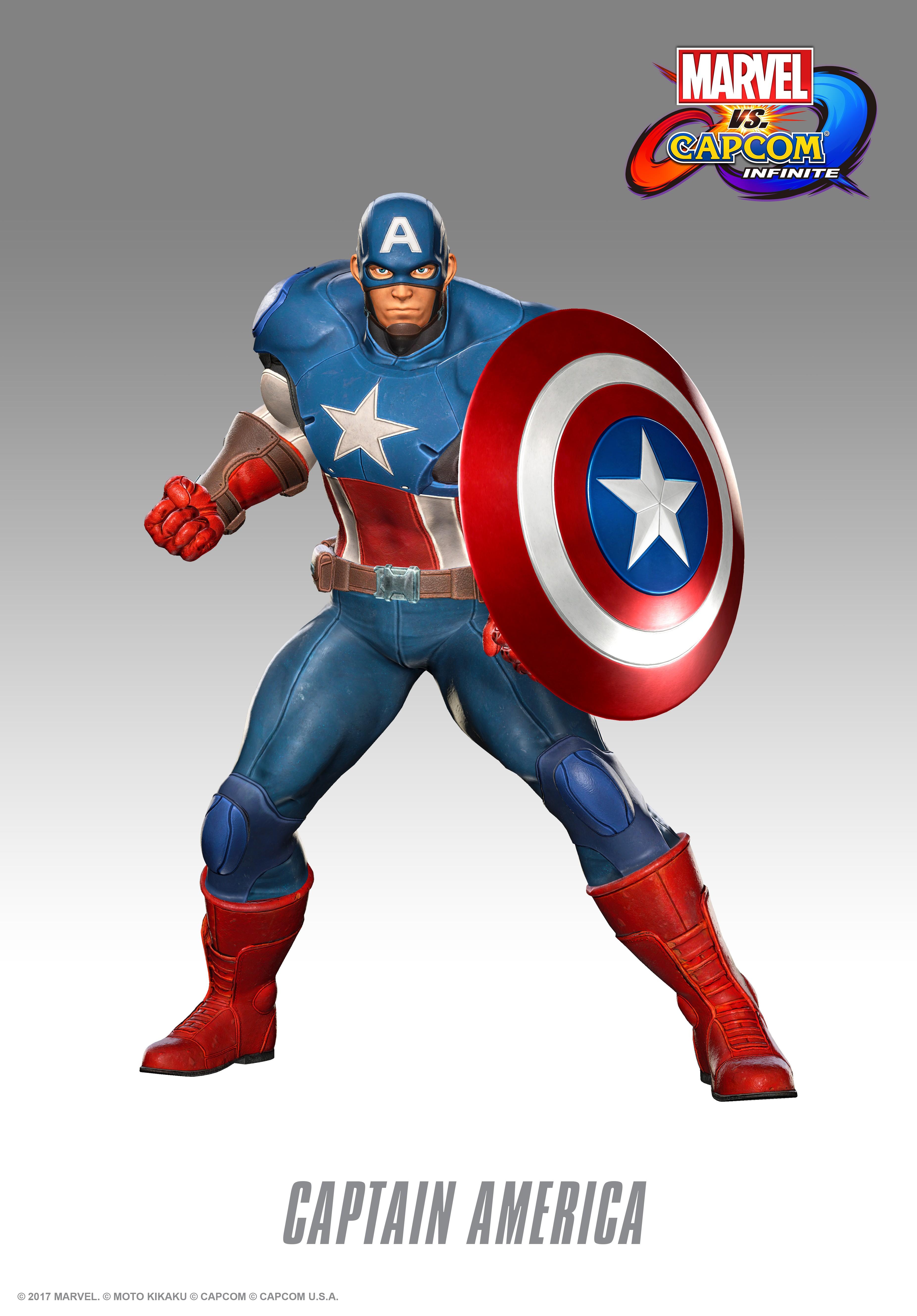 Капитан Америка - Marvel vs. Capcom: Infinite Арт, Персонаж